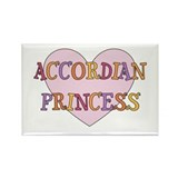 Princess Accordian Rectangle Magnet