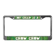 My Kid Chow Chow License Plate Frame