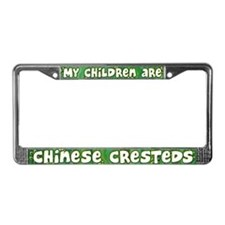 My Children Chinese Crested License Plate Frame
