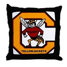 Colton High School Yogi Yellow Jacket Throw Pillow