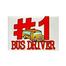 #1 Bus Driver Rectangle Magnet (10 pack)