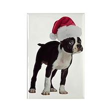Boston Terrier Christmas Rectangle Magnet