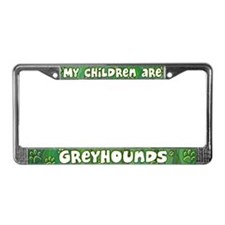 My Children Greyhound License Plate Frame