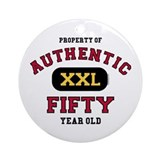 Authentic Fifty Ornament (Round)