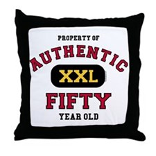 Authentic Fifty Throw Pillow