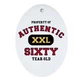 Authentic Sixty Oval Ornament