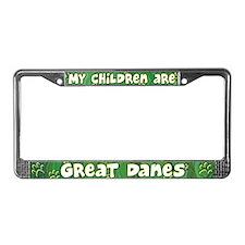 My Children Great Dane License Plate Frame