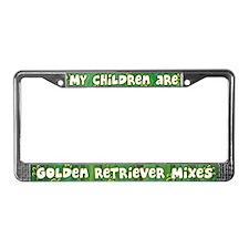 My Children Golden Rtrvr Mix License Plate Frame