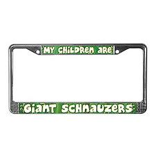 My Children Giant Schnauzer License Plate Frame