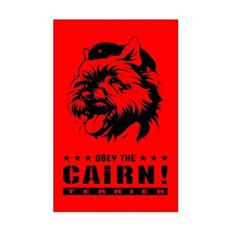 Obey the Cairn Terrier! Mini Poster Print