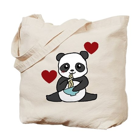 Chibi Noodle Panda Tote