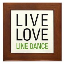 Live Love Line Dance Framed Tile