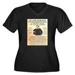 John Wilkes Booth Women's Plus Size V-Neck Dark T-