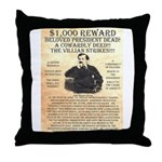 John Wilkes Booth Throw Pillow