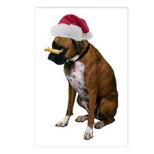 Santa Boxer Christmas Postcards (Package of 8)