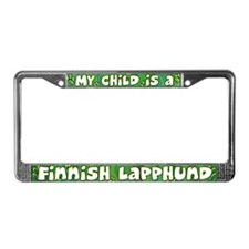My Kid Finnish Lapphund License Plate Frame