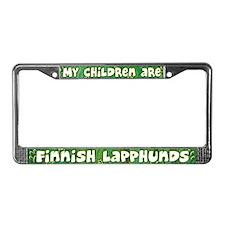 My Children Finnish Lapphund License Plate Frame