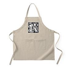 Art Nouveau Initial K BBQ Apron