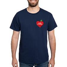 Heart Apple I Love 8th Grade T-Shirt