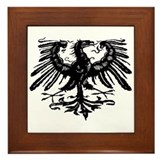 Gothic Prussian Eagle Framed Tile