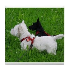 Westie and Scottie Tile Coaster