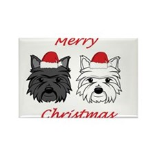 Westie and Scottie Rectangle Magnet