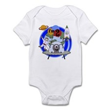 Outer Space 2nd Birthday Infant Bodysuit