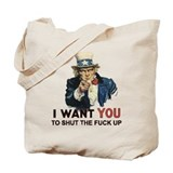 Uncle Sam STFU Tote Bag
