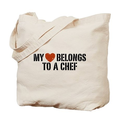 My Heart Belongs to a Chef Tote Bag