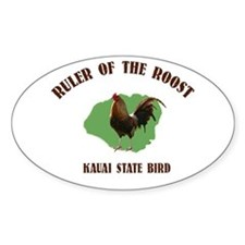 Ruler of the Roost Kauai Oval Decal