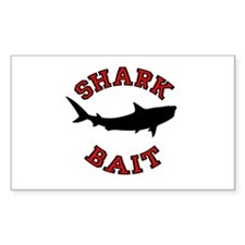 Shark Bait Rectangle Decal