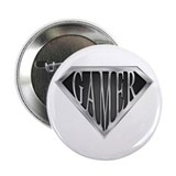 "SuperGamer(metal) 2.25"" Button (10 pack)"