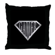 SuperGamer(metal) Throw Pillow