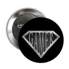 "SuperGamer(metal) 2.25"" Button"