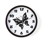Social Butterfly Wall Clock