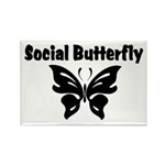 Social Butterfly Rectangle Magnet (10 pack)