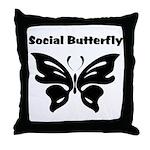 Social Butterfly Throw Pillow