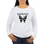 Social Butterfly Women's Long Sleeve T-Shirt