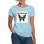Social Butterfly Women's Pink T-Shirt
