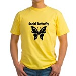 Social Butterfly Yellow T-Shirt