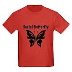 Social Butterfly Kids Dark T-Shirt