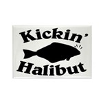 Halibut Rectangle Magnet (10 pack)