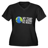 My Temp Job: Saving the World Women's Plus Size V-
