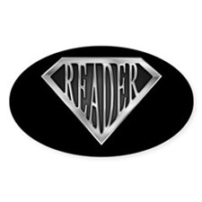 SuperReader(metal) Oval Decal