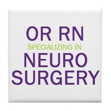 OR RN Neuro Tile Coaster
