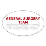 General Surgery Team Oval Decal