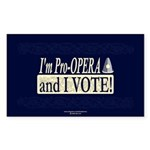 I'm Pro Opera Rectangle Sticker 50 pk)