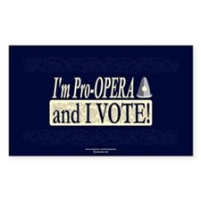 I'm Pro Opera Rectangle Sticker 10 pk)