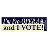 I'm Pro Opera Bumper Car Sticker