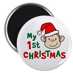 "My First Christmas - Monkey 2.25"" Magnet (100 pack"